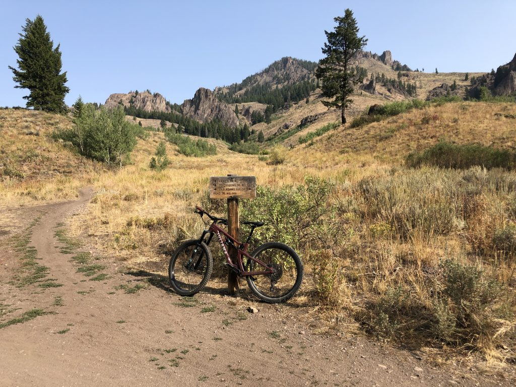Mountain Biking Adam's Gulch, Ketchum, Idaho