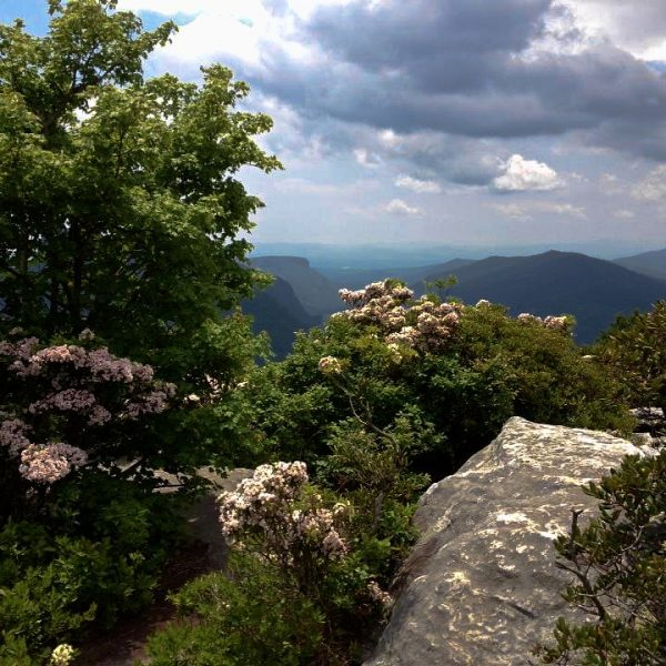 Hiking Hawksbill Mountain Trail