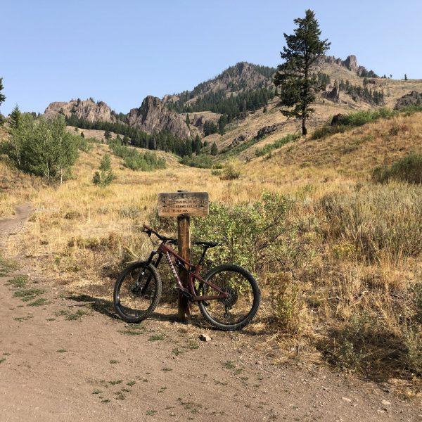 Mountain Biking Adam's Gulch, Ketchum, Idaho